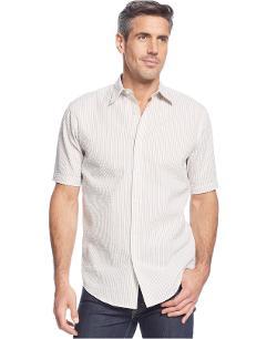 John Ashford  - Nicholls Bengal Seersucker-Stripe Shirt