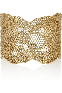 Aurélie Bidermann - Vintage Lace Gold-Plated Cuff Bangle