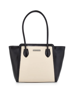 Charles Jourdan - Velvet Two-Tone Tote Bag