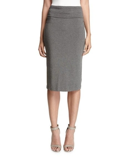 Eileen Fisher  - Fold-Over Knee-Length Pencil Skirt