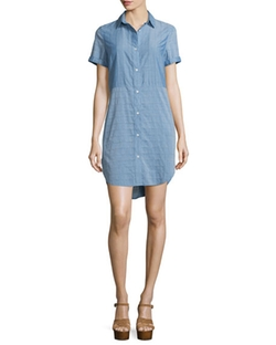 Frame Denim  - Le Short Sleeve Chambray Shirtdress