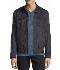 John Varvatos Star USA  - Mixed Media Zip Jacket