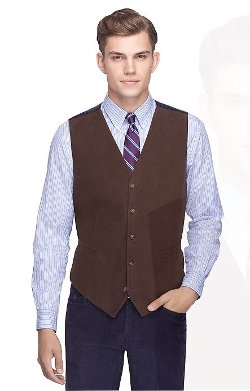 Brooks Brothers - Brushed Cotton Vest