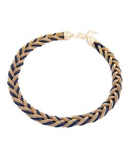 Chicnova - Weaving Bread Twist Necklace