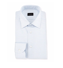 Ermenegildo Zegna - Box Check Twill Dress Shirt