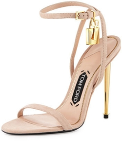 Tom Ford - Lock Ankle-Wrap Suede Sandals