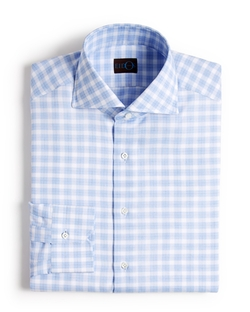 Eidos - Gingham On Box Check Dress Shirt