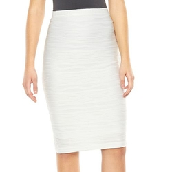 Jennifer Lopez  - Textured Midi Pencil Skirt