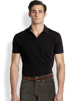 Ralph Lauren Black Label  - Solid Mesh Knit Polo Shirt