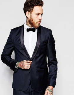 Asos  - Slim Tuxedo Suit Jacket