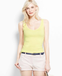 Ann Taylor - V-neck Cotton Tank