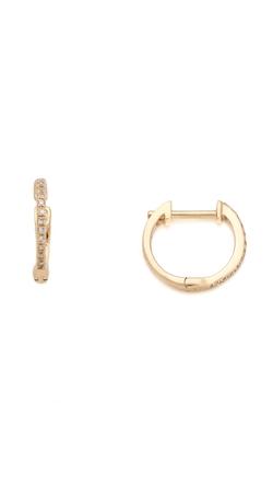 Ariel Gordon Jewelry  - Pave Diamond Huggie Earrings