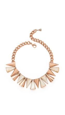 Sarah Magid -  Large Mother of Pearl Cone Necklace