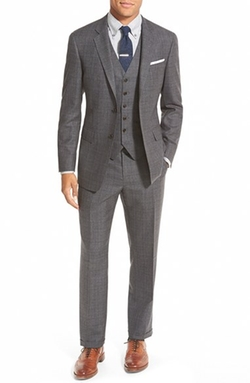 Todd Snyder White Label  - Trim Fit Three-Piece Plaid Wool Suit