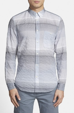 7 for All Mankind - Trim Fit Stripe Oxford Shirt