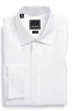 David Donahue - Trim Fit French Cuff Tuxedo Shirt