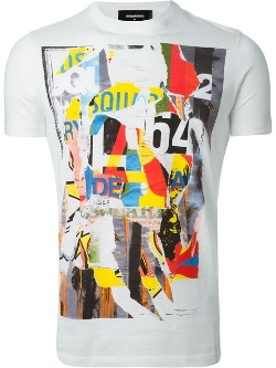 Dsquared2  - Abstract Print T-Shirt