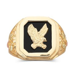 Black Hills Gold - Mens Eagle Ring