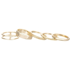 Kendra Scott - Kara Goldtone Midi Rings