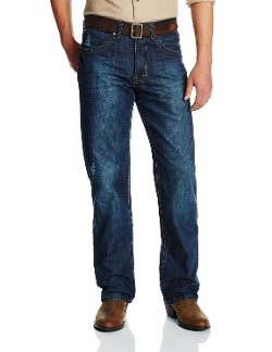 Stetson - Deco V Stitch Back Pocket and Dark Wash Jeans