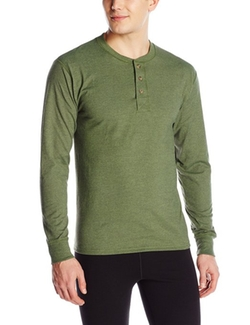 Hanes - Beefy-T Henley T-Shirt