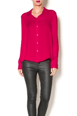 Weeping Willow Boutique - Silk Red Blouse