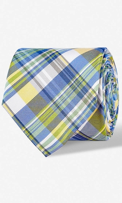 Express - Plaid Narrow Silk Tie