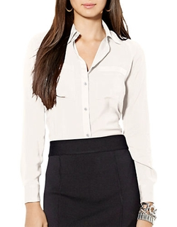 Lauren Ralph LAuren - Stretch Satin Dress Shirt
