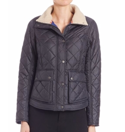 Barbour - Cushat Faux Fur Collar Quilted Jacket