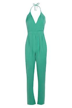 Boohoo - Boutique Low V Tie Neck Jumpsuit