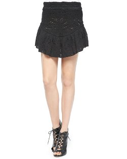 IRO - Filen Flounce-Hem Lace Miniskirt
