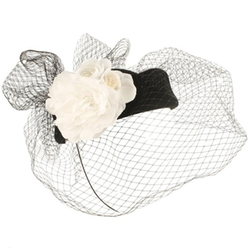 SK Hat Shop - British Fishnet Veil