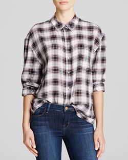 Elizabeth and James  - Carine Plaid Cotton Shirt