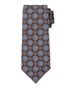 Isaia - Circle-Medallion Printed Silk Tie