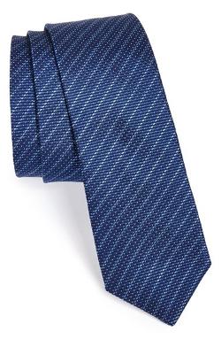 John Varvatos Star USA - Silk Micro Stripe Pin Dot Tie