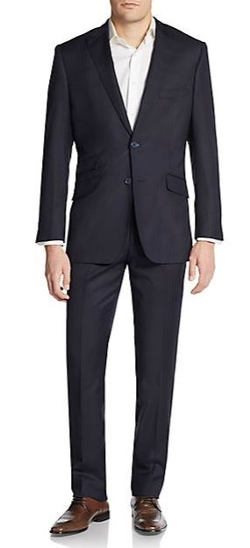 English Laundry - Slim-Fit Tonal Pinstripe Wool Suit