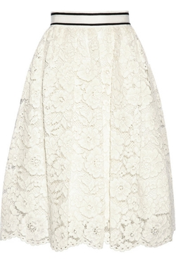 Alice + Olivia - Kizzy Guipure Lace Skirt