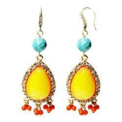 Zoe + Syd - Multicolor Teardrop Dangle Earrings