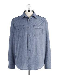 Dkny Jeans  - Chambray Sports Shirt