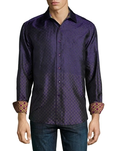Robert Graham	  - Ioch Diamond-Print Sport Shirt