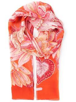 Salvatore Ferragamo  - Floral Heart Print Scarf