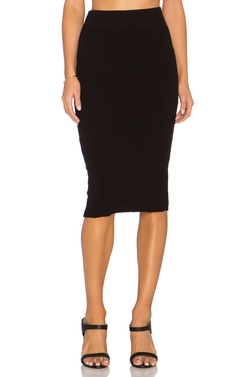 James Perse - Heavy Rib Skinny Skirt