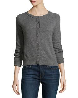 Neiman Marcus - Cashmere Rolled Trimmed Cardigan