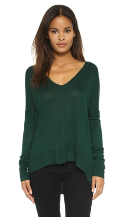 Line - John & Jen High-Low V Neck Top
