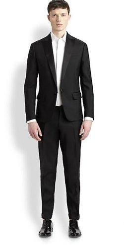 DSquared  - Wool Peaked Lapel Tuxedo Suit