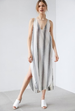 Silence + Noise - Annaka Striped Maxi Tank Dress