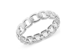 Jones New York  - Silver-Tone Chain-Link Stretch Bracelet