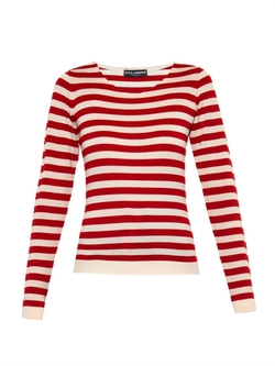 Dolce & Gabbana - Striped Cashmere And Silk-Blend Sweater