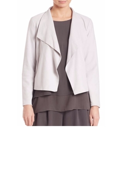 Eileen Fisher  - Soft Suede Drape-Front Jacket
