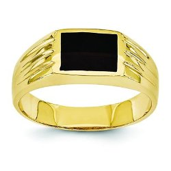Finding King - Gold Black Onyx Ring